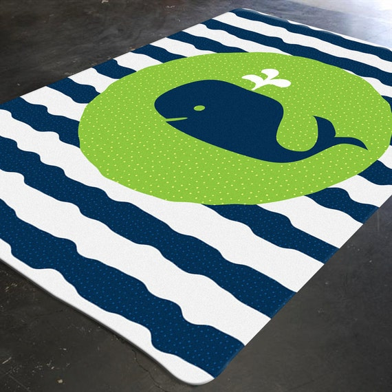 Whale Rug Nautical Rug Whale Decor Nautical Nursery Etsy