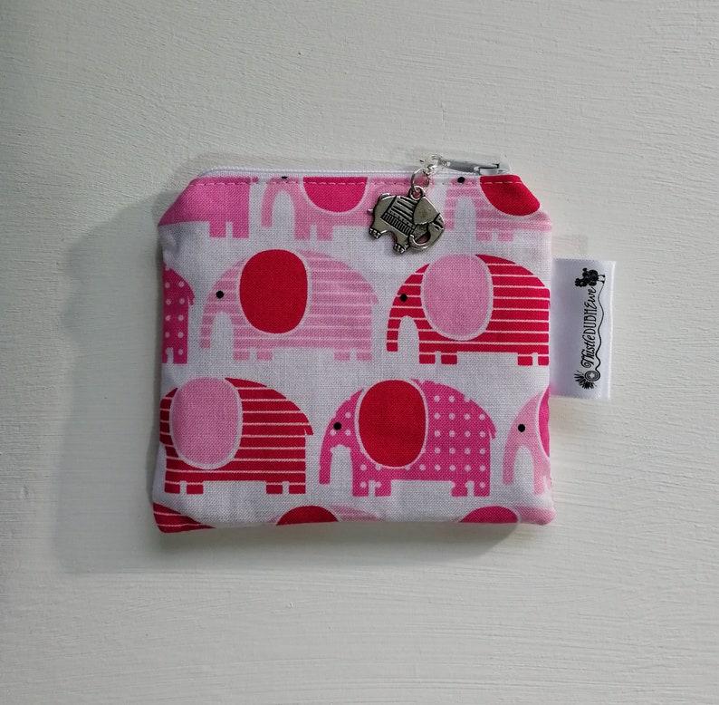 Cute Girl/'s Purse Pink Purse Coin Purses Elephant Purse Fabric Purse