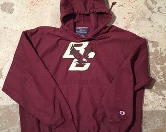 4625f2eb185a Champion reverse weave Boston College state University burgundy sweatshirt  hoodie sz L kids see ghosts yeezy cudi travis scott tour merch