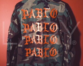The Life pablo ultra light beam tour merch pablo military army camo jacket  Kanye West Kid Cudi KSG Kids See Ghosts ye Album yeezy yeezus 3a0acae5a