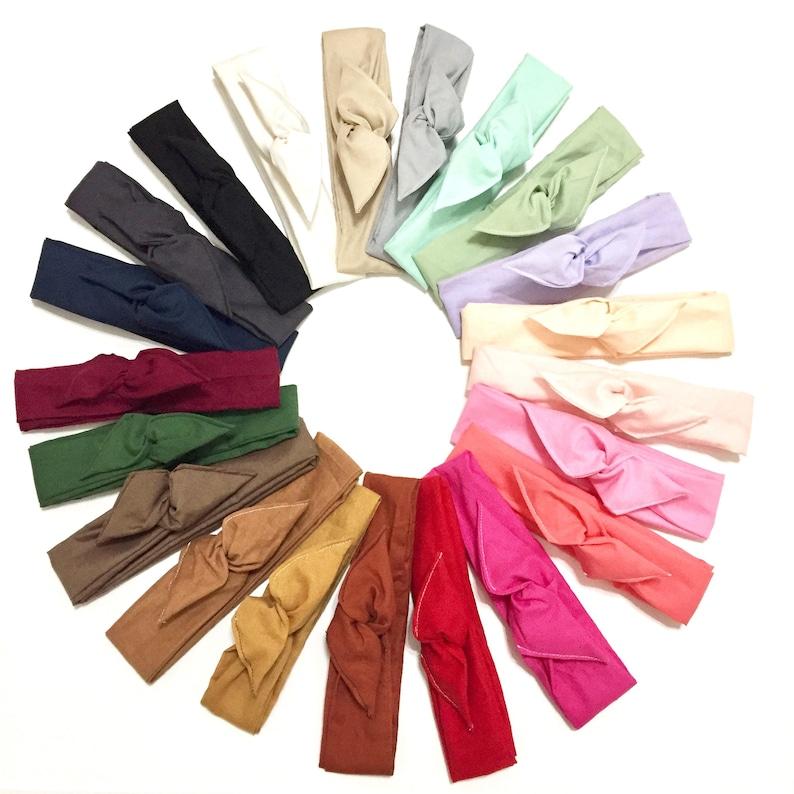 Solid Color Wire Boho Headband/ Boho Headband/ Dolly Bow/ Baby image 0