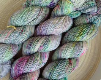 Perfect Day - Hand Dyed Sock Yarn, 4 ply yarn, pastel rainbow indie dyed yarn Fingering Weight Yarn