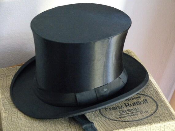 """Antique 1910 """"men's or women's top hat Chapeau Cla"""
