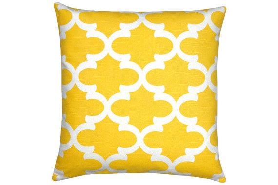 Kissenhülle Kissenbezug Gelb Weiß 40x40 Gittermuster Marokkanisch Orientalisch Leinen Strandhaus Skandinavisch Interior Terrasse Fynn