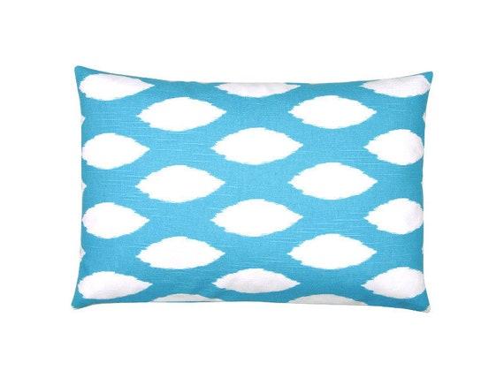 Cushion Cover Cushion Aqua Turquoise 40x60 Ikat Ethno Hamptons   Etsy