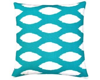 Upholstery Cushion 60x60 Turquoise Cushion Ikat Ethnic Graphic Country  House Style Maritim Scandinavian CHAZ