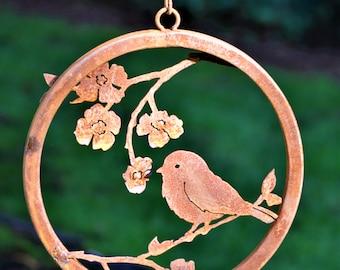 Chickadee on Dogwood Branch Wreath   Wild Bird Art   Perched Bird   Front Door Decor   Chickadee Art   Bird Gift for Mom   Bird Lover   R211