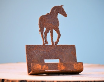 Horse card holder etsy quick view stallion business card holder rustic colourmoves