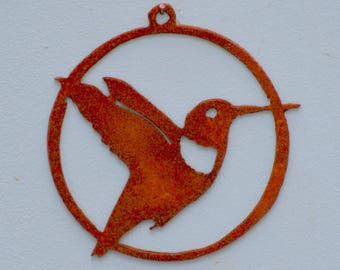 Hummingbird Ornament | Ruby Throated Hummingbird | Metal Christmas Ornament | Metal Window Ornament | Bird Gifts for Grandma | CO104
