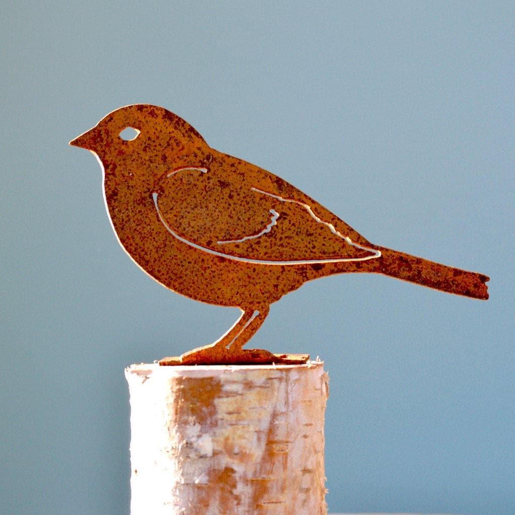 Sparrow Wild Bird Art Metal Song Bird Metal Yard Art | Etsy