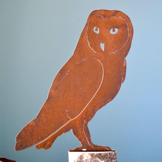 Rusty Metal Barn Owl Garden Decor Rusty Owl Gift Rusty | Etsy