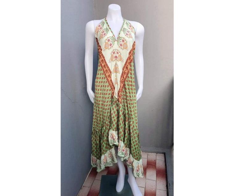 Bohemian Ruffle maxi long dress.