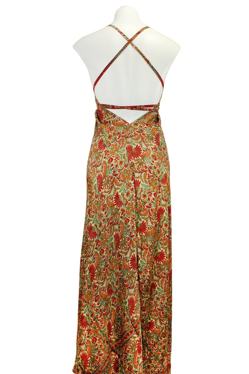 Boho Silk DressCasual comfy Bohemian Halter dressBeach Summer DressSilk boho dress