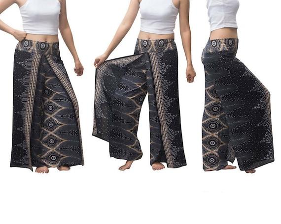 Free shipping vacation pants Boho pants Open Leg Pants Wrap pants bohemian wrap around pants gift for her hippie pants