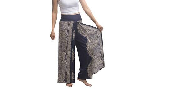 6ba9b82033 Black Wrap around pants Comfy pants Beach pants Hippie pants | Etsy