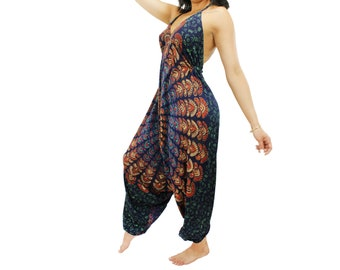 Harem Jumpsuit,Bohemian clothing,Jumpsuit,Festival romper,boho clothing,Hippie romper, Comfy pants, Free Shipping