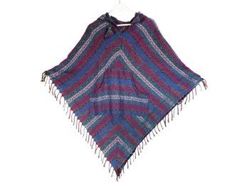 Bohemian Winter Hippie Poncho Boho Festival Poncho Boho clothing Poncho Women Winter Jacket
