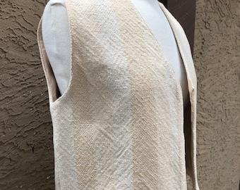 """Handwoven organic """"color grown"""" cotton vest"""