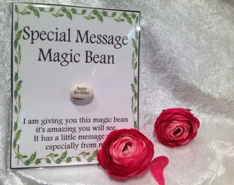 Special message magic bean -Happy Birthday