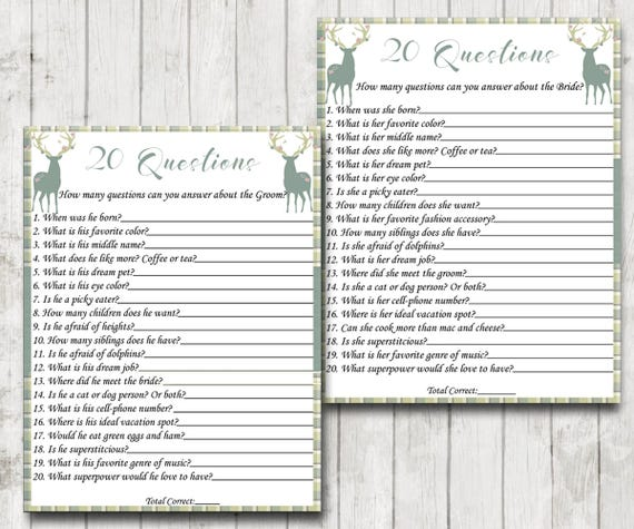 wedding trivia bridal shower trivia wedding shower game rustic theme games green plaid decor instant download