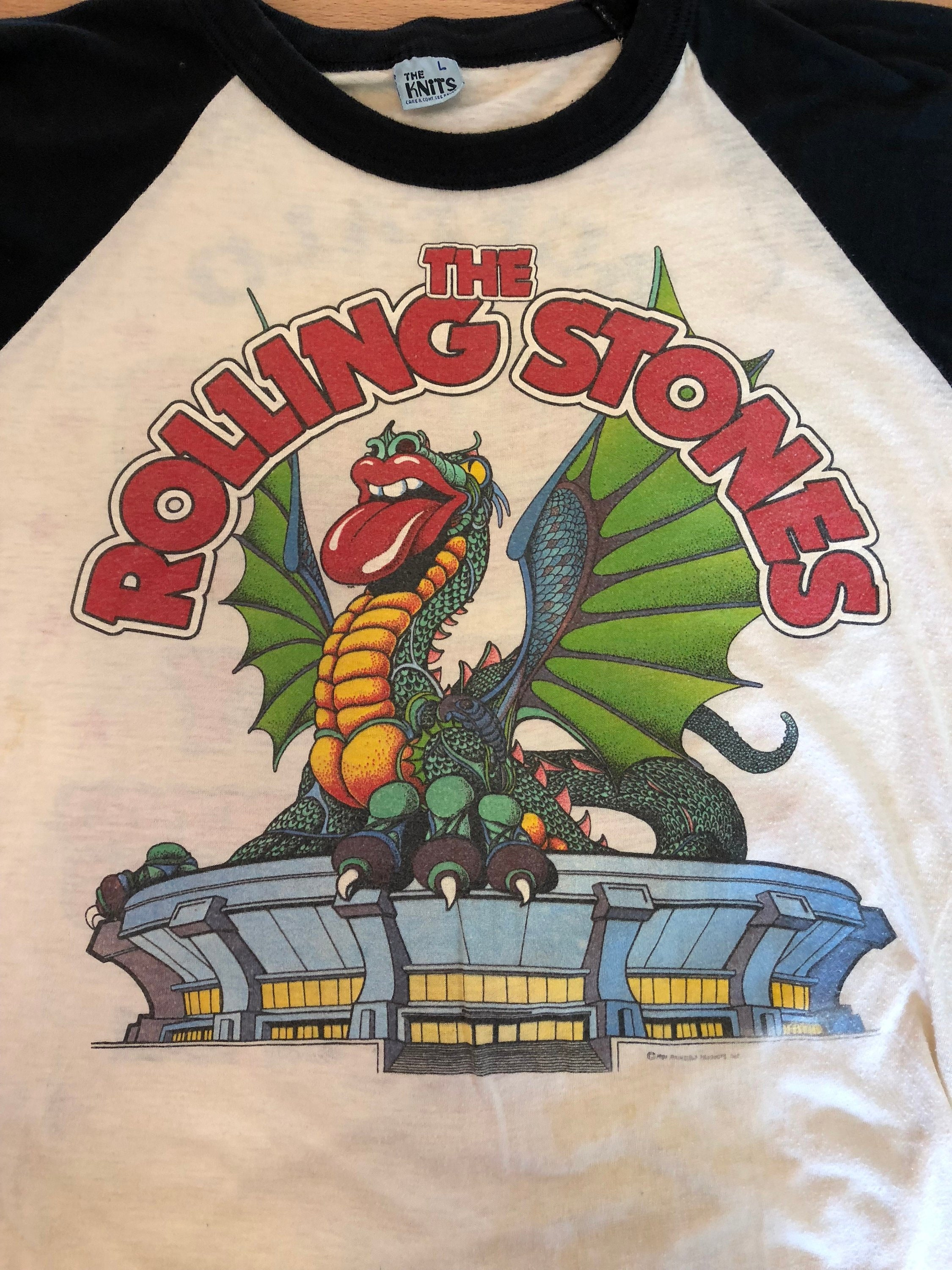 1981 Rolling Stones Concert Baseball Tee Tour T Shirt With