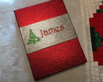 personalized christmas tree christmas gift card box gift card holder 6 x 425 x 5