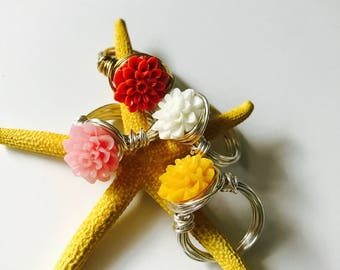 Chrysanthemum Messy Wire Ring