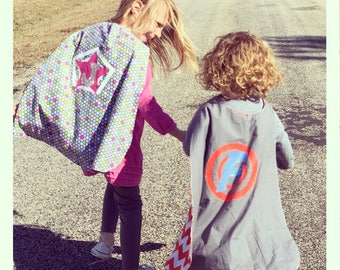 Items similar to Childrens Personalized Capes Custom