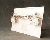 3D Laser Cut Card of the Fremont Bridge in Seattle, Washington