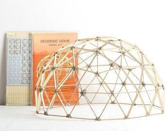 """Geodesic Dome Model Kit, 13"""" Diameter, 3-Frequency Icosahedron"""