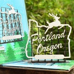 Portland Oregon Sign Model Kit, White Stag Sign, Made in Oregon, Retro Style, Architects Design