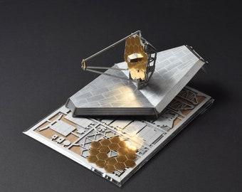 James Webb Space Telescope Model Kit, Laser Cut, Illustrated Instructions, Build It
