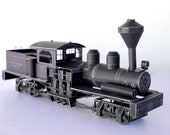 """Train Model Kit, Shay Steam Locomotive, 12"""" Long x 5.5"""" Tall, DIY Assembly Required"""