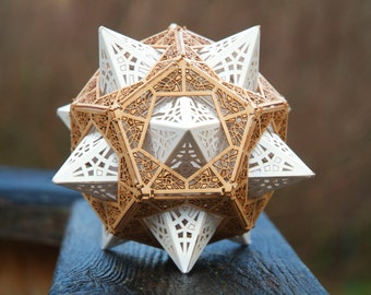 Sacred Geometry Model Kit, Makes one Star Orb Dodecahedron, Unique Gift, Laser Cut, DIY