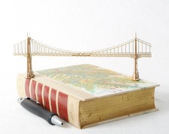 Model Kit of St Johns Bridge in Portland Oregon, Architectural Model, Miniature Bridge