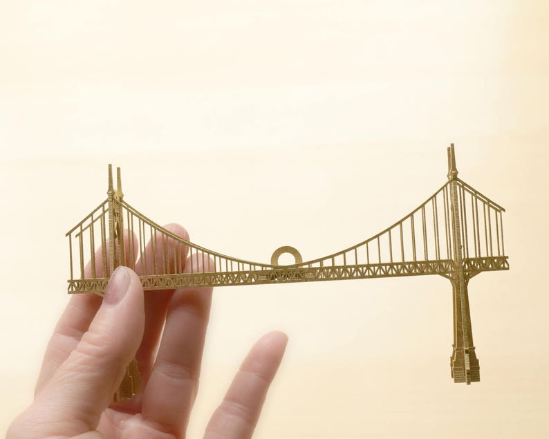 Home Decor No Assembly Required Ready to Hang Gift Set Portland Oregon Bridge Ornaments