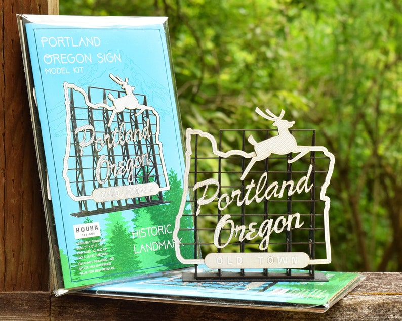 Portland Oregon Sign Model Kit White Stag Sign Made in image 0