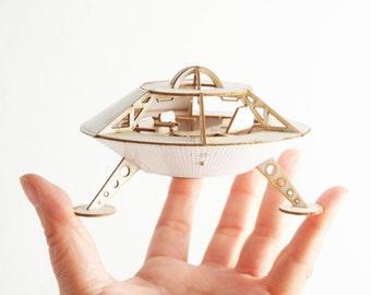 Miniature Space Ship Model Kit of the Mars Lander, Laser cut DIY project