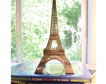 "Eiffel Tower Model Kit, Paris France Landmark, 16"" Tall, Fun to Build"