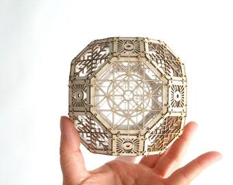 Great Rhombicuboctahedron Model Kit, 3D Laser Cut Sacred Geometry Model, Architectural Design, Gifts
