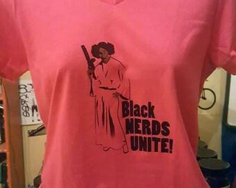 Black Nerds Unite Ladies Tee