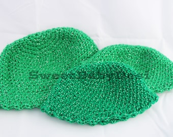 Sparkly Green Flapper Hat, Crochet Baby Cap, Infant Dapper Hat, Newborn Beanie, It's A Girl, Baby Shower Present, Gifts for New Moms, RTS
