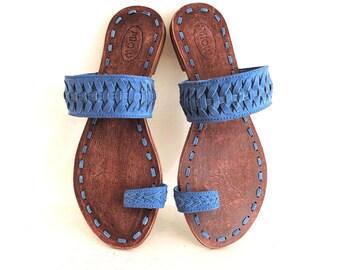 4a1946e48729a BLUE SUEDE SANDALS Women