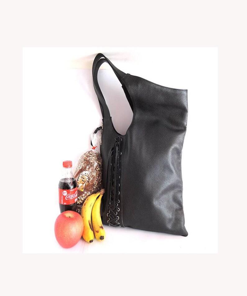 935c537a3a11 LEATHER TOTE BAG w  Tassels. Shoulder Bag   Sling Bag w