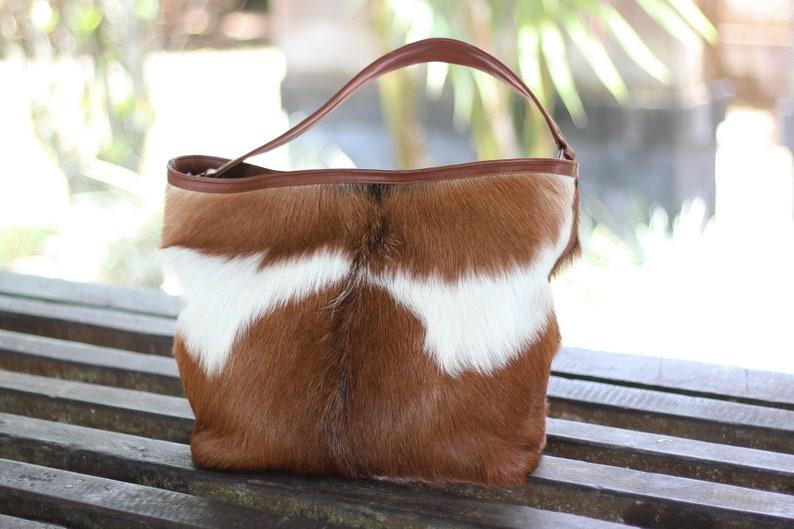 2e1826977fc1 COWHIDE PURSE COWHIDE Handbag Leather Tote Bag. Country Tote   Etsy
