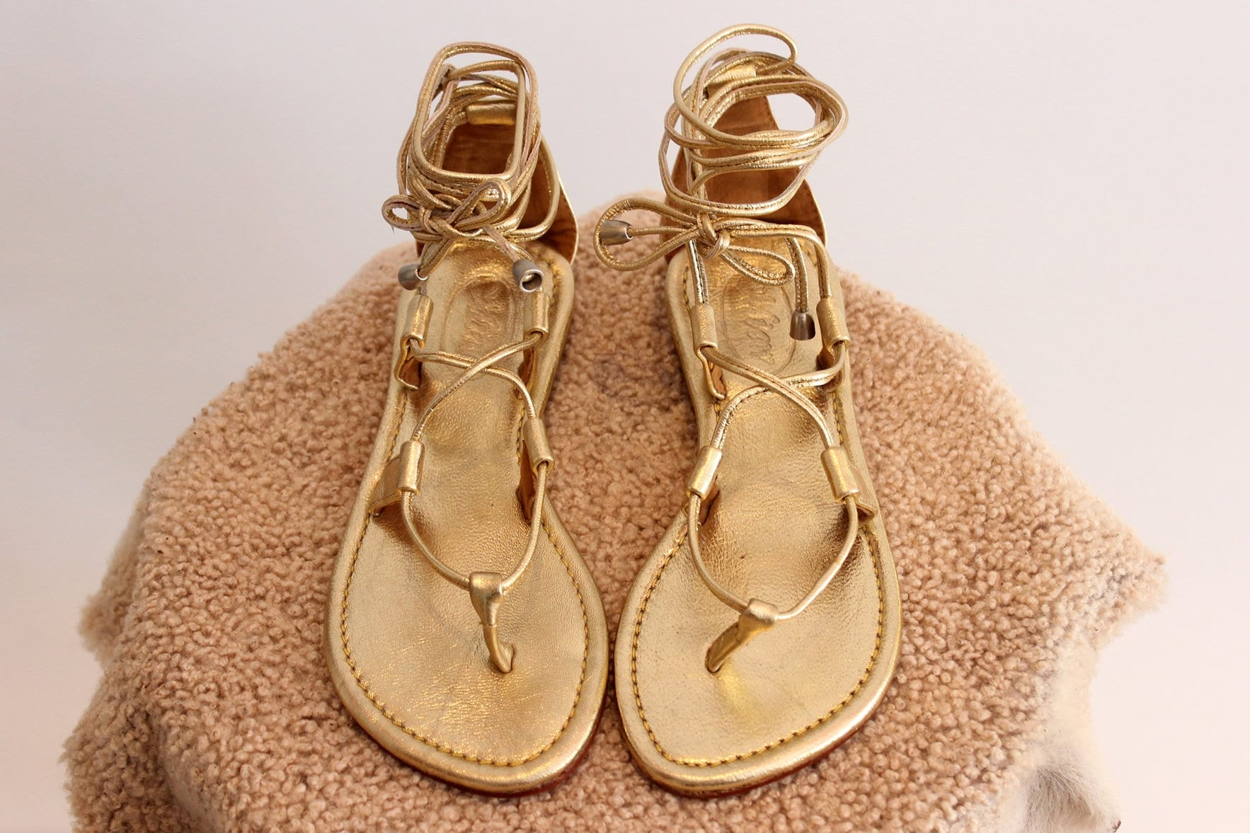 GOLD LEATHER SANDALS, Bohemian Sandals, Summer Flats, Lace Up Sandals. Flat Sandals, Boho Sandals, Women Sandals, Small Size Usa 4 to 12.