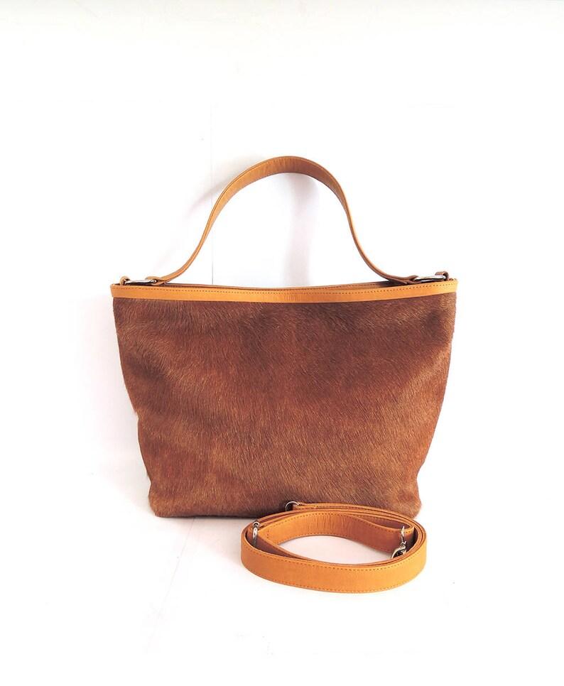 a86f5a4073 Sac fourre-tout en cuir beige sac à main en peau de vache | Etsy