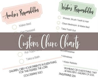 Custom Chore Charts