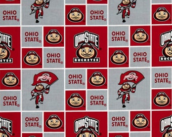 Shower Curtain Ohio State Buckeyes Decorative Button Hole Top Or Grommet Bachelor Dorm Man Cave Football