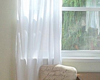 Bio Weiße Baumwolle Custom Schlafzimmer Vorhang   Elegante Vorhänge  Einfache Leinen Look Vorhänge, Weiß Halb Schiere Vorhang Panel  Benutzerdefinierte ...